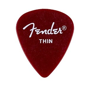 Fender フェンダー ピック CALCLEAR (12 PK) CA RED THIN