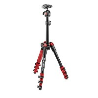 Manfrotto コンパクト三脚 Befree one アルミ 4段 ボール雲台キット レッド MKBFR1A4R-BH