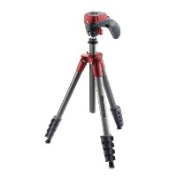 Manfrotto 三脚 COMPACT Action フォト・ムービーキット レッド アルミ 5段 MKCOMPACTACN-RD