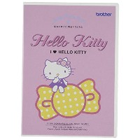 brother 刺しゅうカード 【I LOVE HELLO KITTY】 54種類58模様 ECD089