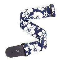 Planet Waves by D'Addario プラネットウェーブス ギターストラップ Broadway Collection Hibiscus Woven P20S1503 Blue ...