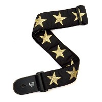 Planet Waves by D'Addario プラネットウェーブス ギターストラップ Bowery Collection Woven Guitar Strap 20T05 Gold Star ...