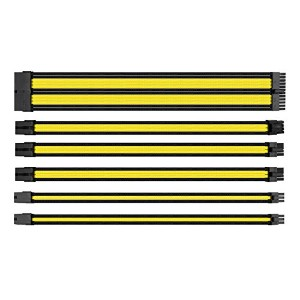 Thermaltake TtMod Extend Sleeve Cable Combo Pack Yellow PC電源延長ケーブルセット CB1536 AC-047-CN1NAN-A1