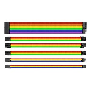 Thermaltake TtMod Extend Sleeve Cable Combo Pack Rainbow PC電源延長ケーブルセット CB1533 AC-049-CNONAN-A1