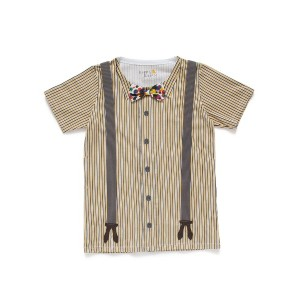 【55%OFF】トロンプルイユ シャツ風 カットソートップ イエロー 12 ベビー用品 > 衣服~~ベビー服