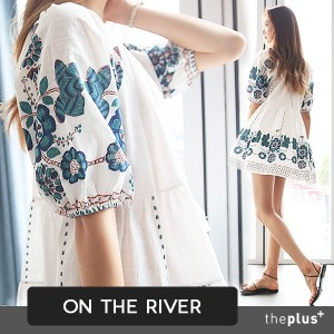 ★ontheriver ★ Ethnic Style Pattern Dress / Embroidery Printing / Plus size / Summer / Korea Style