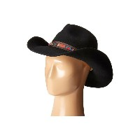 スカラ SCALA レディース 帽子 ハット【Wool Felt Pinch Western with Overlay】Black