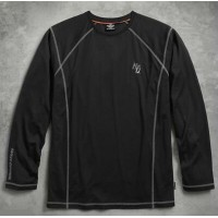 ハーレーダビッドソンメンズ ロングスリーブ TシャツHarley Davidson Men's Performance Long Sleeve Tee with Coldblack...
