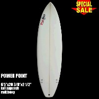 "Power Point パワーポイント サーフボードショートボード 6'5"" フィン付 Shortboard (A80049)Surfboard 未使用アウトレット特価【代引不可】"