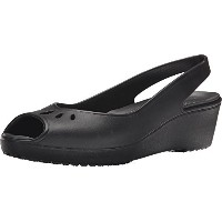 crocs Womens Mabyn Mini Wedge Black 7 B(M) US