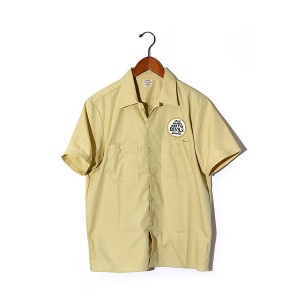 2016SS COOTIE クーティ T/C Rounders S/S Shirt DEVILS TOOLS 半袖ワークシャツ LARGE yellow/● メンズ 【中古】【ベクトル 古着】...