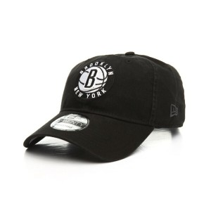 ニューエラ New Era メンズ 帽子 キャップ【9twenty nba core classic twill brooklyn nets dad hat】ブラック