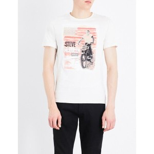 バーブァー barbour メンズ トップス Tシャツ【b.intl. stars and stripes cotton-jersey t-shirt】Neutral