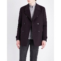 コルネリアーニ corneliani メンズ アウター コート【double-breasted wool peacoat】Aubergine