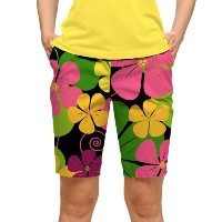 LoudMouth Ladies Big Poppies Bermuda Pants【ゴルフ レディース>パンツ】