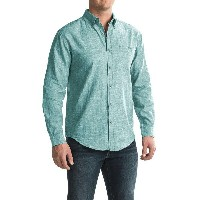 ブルーノ Bruno メンズ トップス 長袖シャツ【Linen-Blend Button-Up Shirt - Long Sleeve 】Greenstone