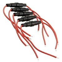 uxcell 5 x 22 AWG 250V 6.3A ヒューズホルダー 5 x 20mm