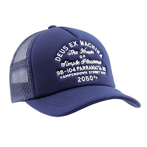 (デウス) Deus ex Machina キャップ メンズ CAMPERDOWN TRUCKER - DMP77641D NAVY