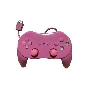 wii クラシック コントローラ PRO 桃 ピンク pink 互換品 Wii コントローラー 互換