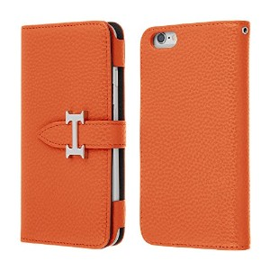Highend berry iPhone6s / iPhone6 手帳型 ケース アイフォン6 / アイフォン6s H DIARY CASE オレンジ