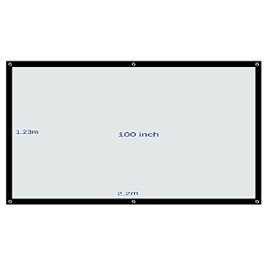 Build Excellent(ビルド エクセレント)ポータブル 軽便式 60/84/100 インチinch 16:9 プロジェクター スクリーン Projector Screen (100...