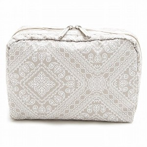 LeSportsac レスポートサック ポーチ 7121 EXTRA LARGE RECTANGULAR COSMETIC D715 Bandana Lace Khaki [並行輸入商品]
