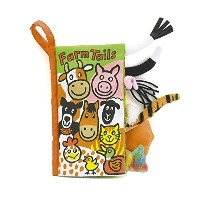 Jellycat Soft Books, Farm Tails Color: Farm Tails Model: BK444FT by Newborn