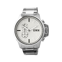 Edwin ENERGY Men's Chronograph Watch, Stainless Steel Case and Band