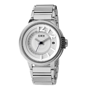 Edwin EDITION Men's 3 Hand-Date Watch, Stainless Steel Case with Stainless Steel Band