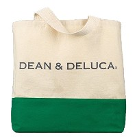 DEAN&DELUCA ディーン&デルーカ トートバッグ グリーン アメリカ限定品 IN0539 [並行輸入品]