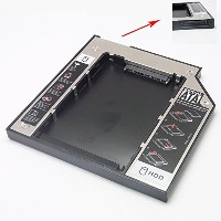 Sienoc SATA to IDE Second 2nd HDD Caddy Optical Bay Color Silver (9.5mm) [並行輸入品]