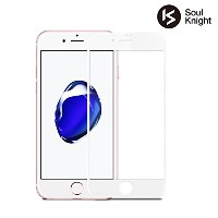 【 iPhone 7 専用】Soul Knight iPhone7 ガラスフィルム 全面 液晶保護フィルム 【 3D Touch対応 / 硬度9H / 気泡防止 】 4.7インチ アイフォン7...