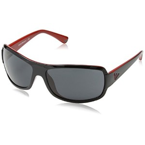 EMPORIO ARMANI EA 4012 Sunglasses 506187 Black On Red 63-15-125
