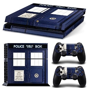 FriendlyTomato PS4専用 Skin プレイステーション4用スキンシール - Dr Police Box Ttime Travel - PlayStation 4 Vinyl