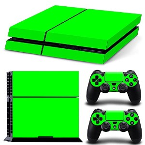 FriendlyTomato PS4専用 Skin プレイステーション4用スキンシール - Green Color - PlayStation 4 Vinyl Colour
