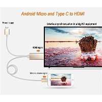 HPPFOTRS 3 in 1 Android/Apple Micro and Type C to HDMI Cable Ipad TV Cable Lightning TV Cable...