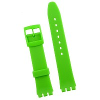 New 17mm (20mm) Sized Resin Strap Compatible for Swatch Watch - Light Green - RG14LG
