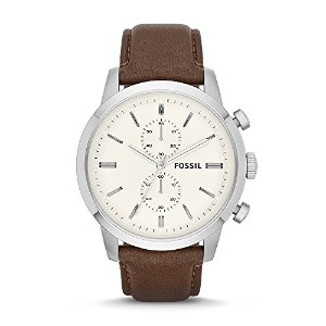 Fossil FS4865 Chronograph Brown and Silver Townsman Leather Watch