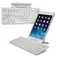 Cooper Cases(TM) K2000 Sony Xperia Z4 Tablet LTE / WiFiユニバーサル Bluetooth キーボードドック (ホワイト)(英語 QWERTY...