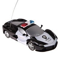 LuxBene(TM)1/24 Drift Speed Radio Remote Control RC RTR Police Racing Car Toy Xmas Gift RC Toys Kid...