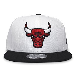 (ニューエラ) NEW ERA CHICAGO BULLS 【2T TEAM-BASIC SNAPBACK/WHT-BLK】 シカゴ ブルズ [並行輸入品]