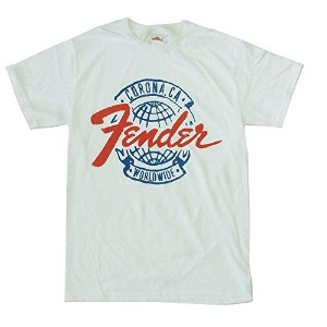 "(フェンダー)Fender ""CORONA CA WORLD WIDE "" ロゴ Tシャツ S"