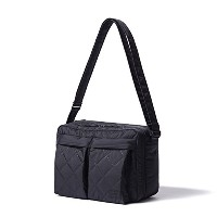 (ヘッド・ポーター) HEADPORTER HEXHAM SHOULDER BAG (L) BLACK