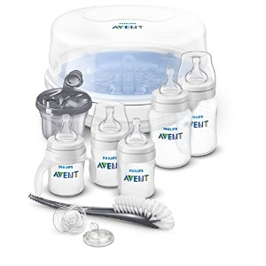 Philips AVENT Anti-Colic Bottle Essentials Newborn Starter Set, Clear by Philips AVENT