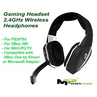 PS4 Xbox 360 Wireless Headset Optical input 2.4GHz Wireless with Detachable Microphone - For Xbox...