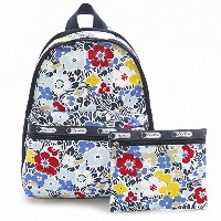 LeSportsac レスポートサック リュックサック 7812 BASIC BACKPACK D834 Ocean Blooms Navy [並行輸入商品]