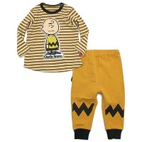 BOO FOO WOO 【BOO HOMES】PEANUTS BABYセットアップ(チャーリーブラウン) イエロー 90