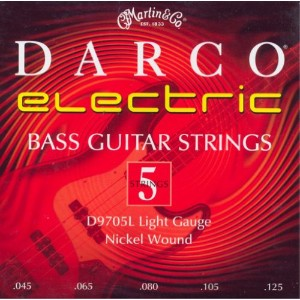 Martin Darco Nickel Wound 5 String Bass Guitar Strings (45-125)