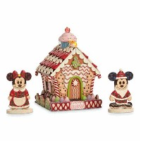 Disney(ディズニー)Mickey and Minnie Mouse ''Home Sweet Home'' Light-Up Gingerbread House by Jim Shore ジム...