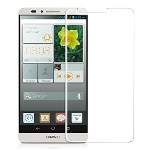 kwmobile 超強力保護ガラスディスプレイ Huawei Ascend Mate 7用 お好みのパターン - 保護ガラス 保護フィルム ディスプレイ保護